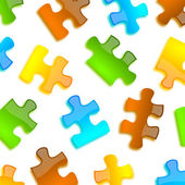 Colored puzzle background glossy style — Stock Photo