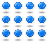 Time Zone Clocks — Stock Photo