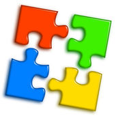 Logo puzzle 2 — Stock Photo