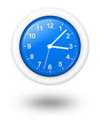Analog Blue Clock Illustration — Stock Photo