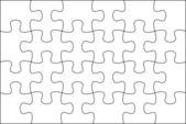Puzzle Background template 6x4 — Stock fotografie