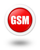 GSM telecommunication symbol with shadow — Stock Photo