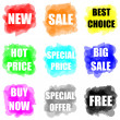 Stock Photo: Set of colorful paint splat for commerce