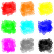 Color paint splat set — Stock Photo