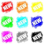 задать цвет краски восклицательный знак новой концепции — Стоковое фото