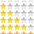 Stock Photo: Rating stars survey