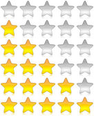 Rating stars survey — Stock Photo