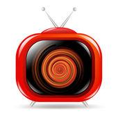 Red Retro Tv — Stock Vector