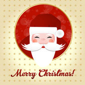 Greeting Card With Santa Claus — Vecteur