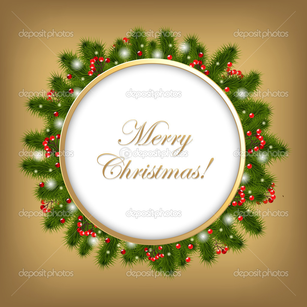 Christmas Composition, Vector Illustration — Stock Vector #8089072