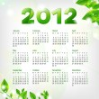 Green Calendar 2012 — Stock Vector