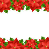 Red Poinsettia Border — Stock Vector