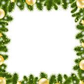 Vánoční zlaté hranice — Stock vektor
