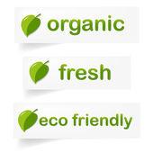 Organic Label — Stock Vector