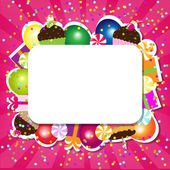 Birthday Color Card — Stock Vector
