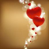 Kırmızı kalpler — Stok Vektör