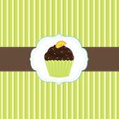 Cake Card Template — Stock Vector