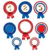 Ribbon Rosette Badge — Stock Vector