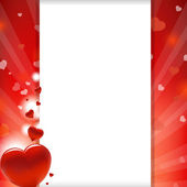 Valentines Heart And Paper — Vector de stock