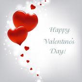 Carta di san valentino con cuori — Vettoriale Stock