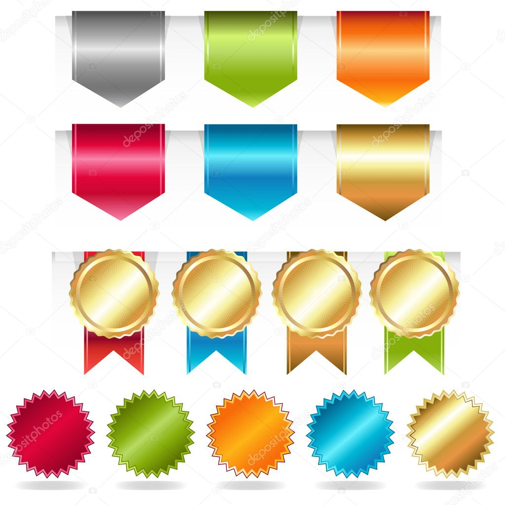 Web Ribbons, Vector Illustration — Stock Vector #8696772