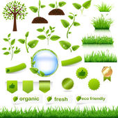 Green Eco Set — Vector de stock