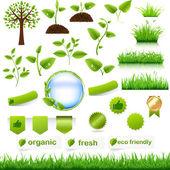 Conjunto verde eco — Vector de stock