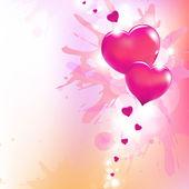 Valentines Hearts And Paint Splash — Stockvektor