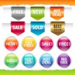 Royalty-Free Stock Vector Image: Sold Stickers And Ribbons