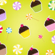 Cupcakes Labels — Stock Vector