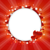 Circle With Hearts — Stock Vector