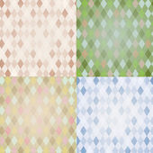Vintage Harlequin Backgrounds Set — Stock Vector