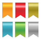 Web Ribbons Set — Stock Vector