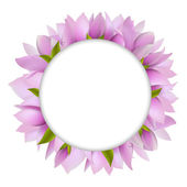 Magnolia With Circle — Stock Vector