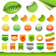 Royalty-Free Stock Vector Image: Spring Sale Set