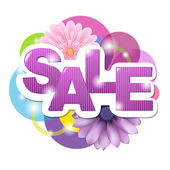 Sale Poster With Gerber — Stock Vector