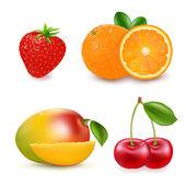 Fresh Fruits — Stock Vector