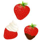 Strawberry Set — Stock Vector