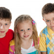 Group of three children — Stock Photo