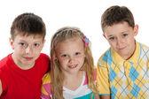 Group of three children — Stock Photo