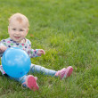 Little girl with a ballon — Stock Photo #8139673