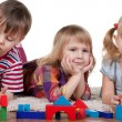 Royalty-Free Stock Photo: Playing blocks in kindergarten