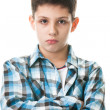 Boy with crossed hands — Stock Photo #8143849