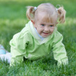 Crawling cheerful toddler — Stock Photo