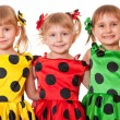 Three smiling girls — Stock Photo #8143919