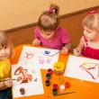 Royalty-Free Stock Photo: Painting class for little girls