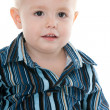 Portrait of a blond little boy with hazel eyes — Stock Photo