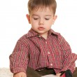 Young learner at the book — Stock Photo