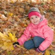 Royalty-Free Stock Photo: Little girl with yellow leaves