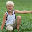 Stock Photo: Blond kid with great mood